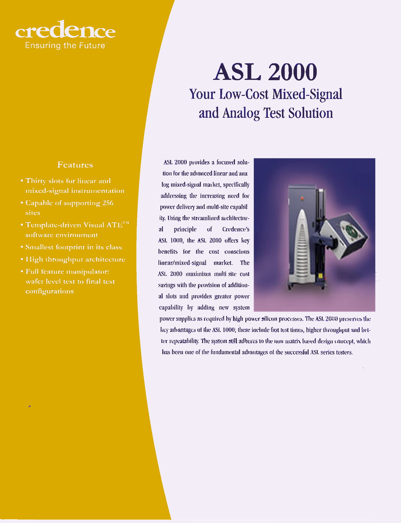Development of Credence ASL2000 Mixed Signal Test Station