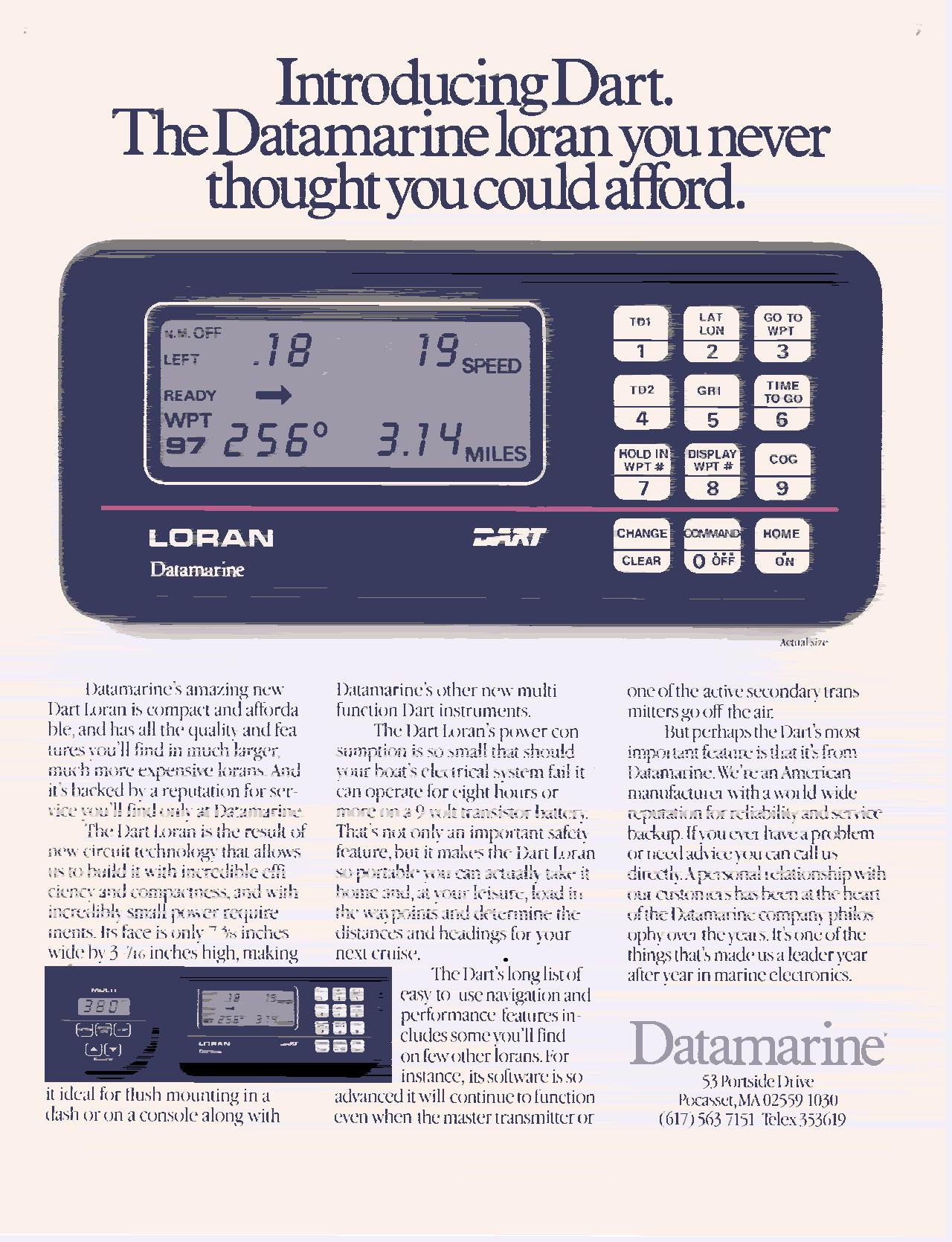 Datamarine Dart – Loran system