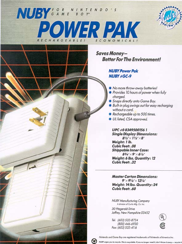 Development of aftermarket Power Pack for Nintendo Gameboy