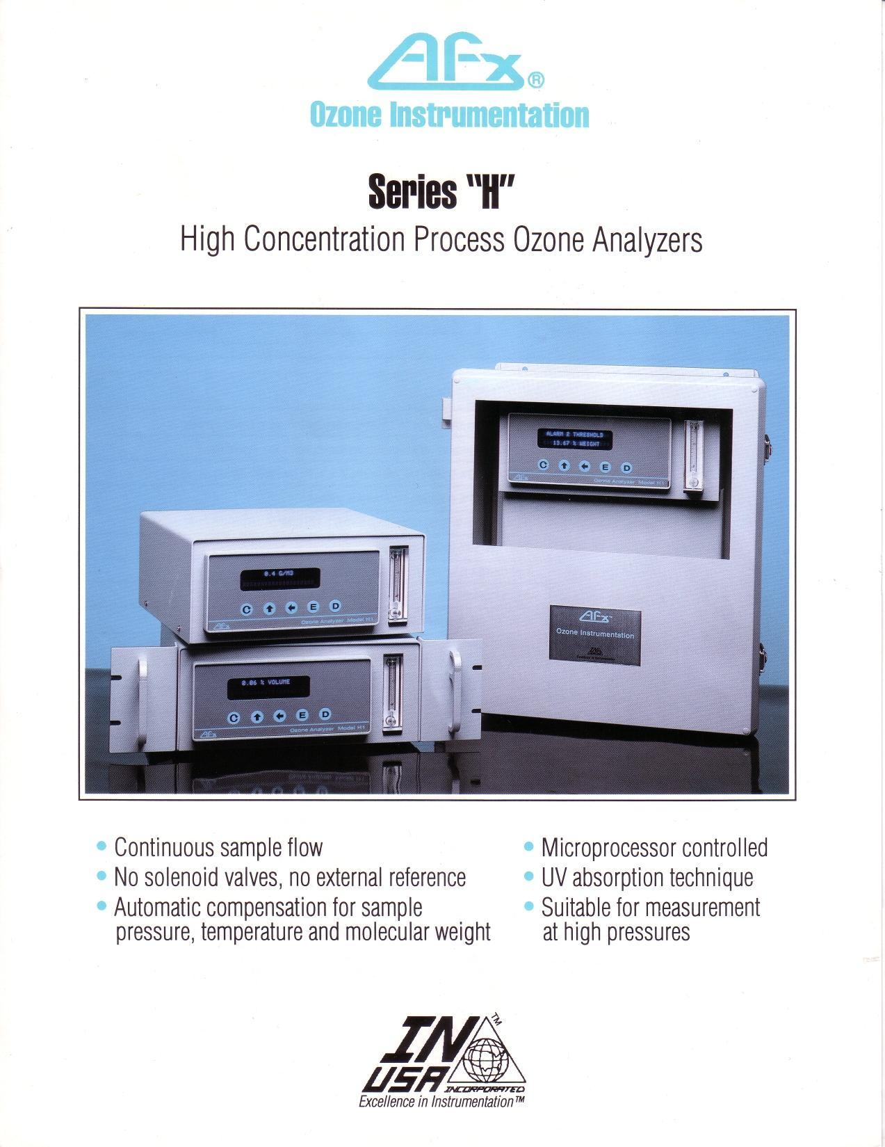 High Concentration Ozone Analyzers for IN USA